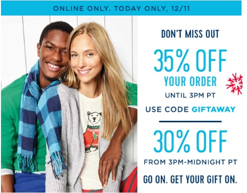 Old Navy 35% Off Flash Sale Holiday Shopping Event