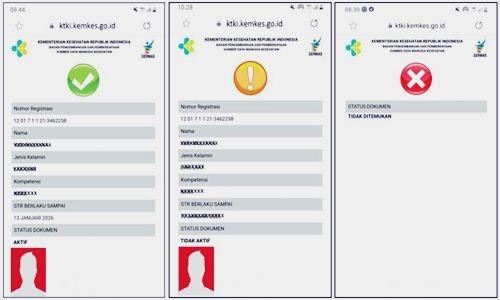 Foto Review Cara Cek Keaslian e-STR dengan Scan Barcode Via Online di KTKI Kemenkes Terbaru - www.herusetianto.com