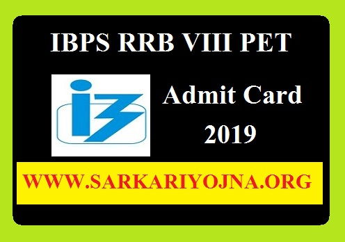 IBPS RRB VIII PET Admit Card 2019