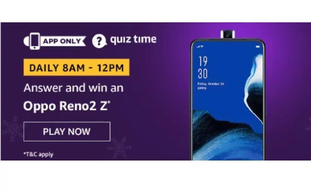 Amazon Oppo Reno2 Z Quiz Answers