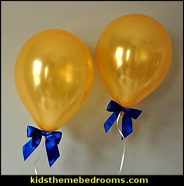 Royal Prince Baby Shower Decorations. Balloons with Bows 8CT with Curling Ribbon