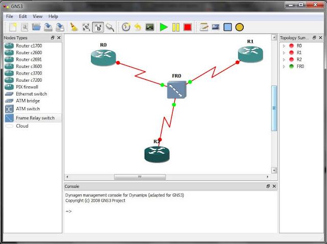 شبكة محاكي GNS3