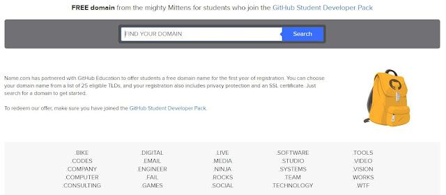 Cara Mendapatkan Domain Gratis dari Name.Com
