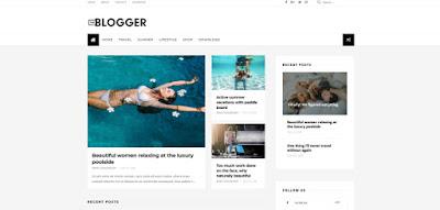 Theblogger стильный шаблон для блоггер - blogspot