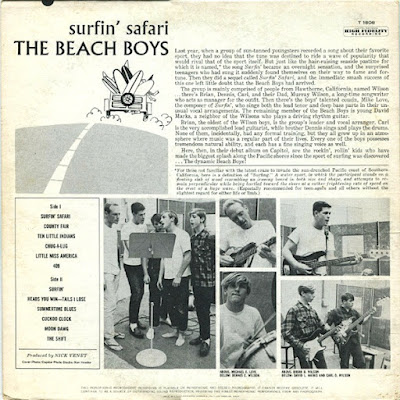 The Beach Boys (Surfin Safari) Debut Album 1962