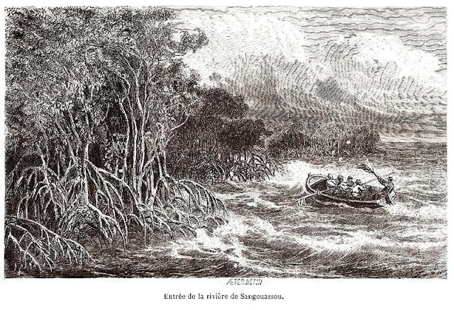 Foz do rio Sanguaçu.