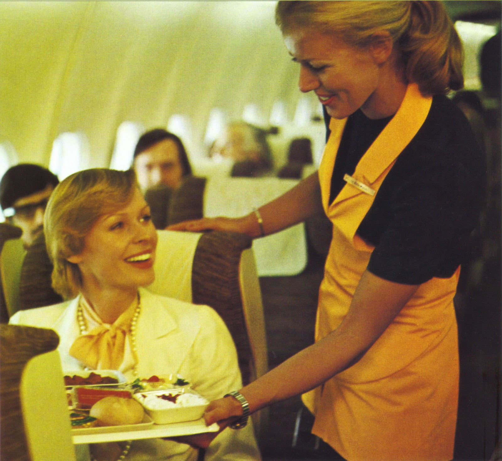 Airlines Past  Present Lufthansa Stewardess Flight