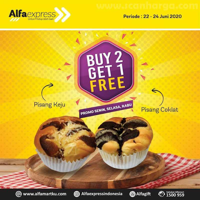 AlfaExpress Alfamart Weekday Sesabu Promo Roti Beli 2 Gratis 1!