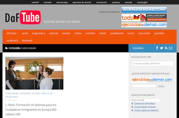 DaF Tube, videos para aprender alemán
