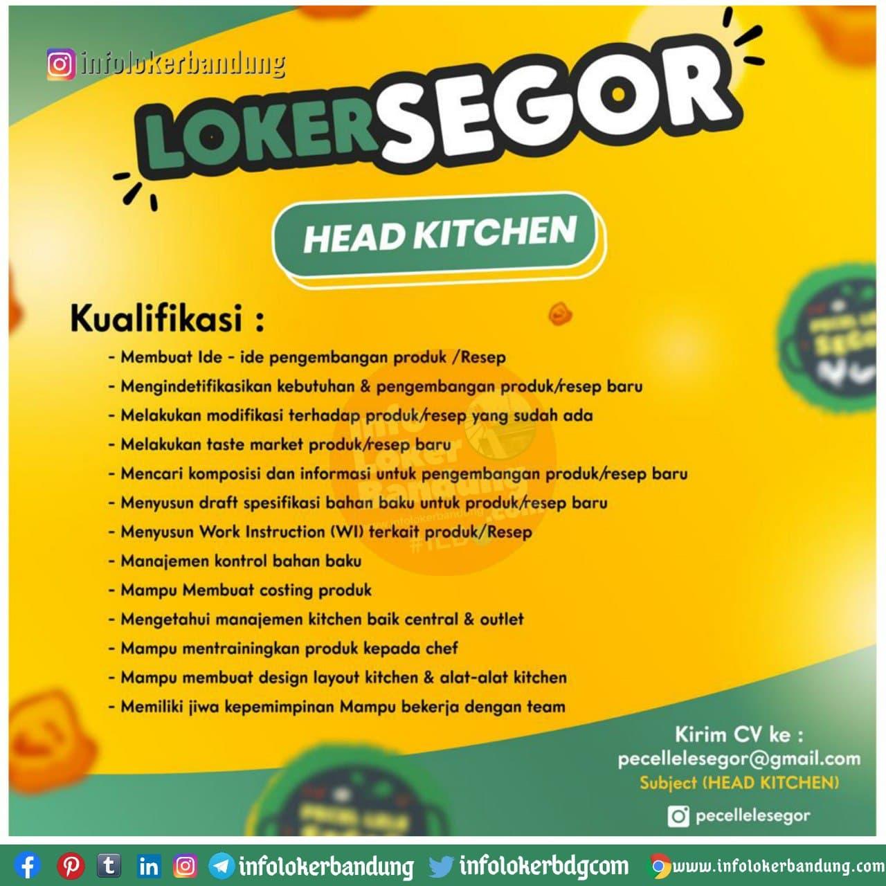Lowongan Kerja Head Kitchen Pecel Lele Segor Bandung Desember 2020