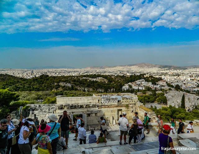 Propileu, entrada da Acrópole de Atenas