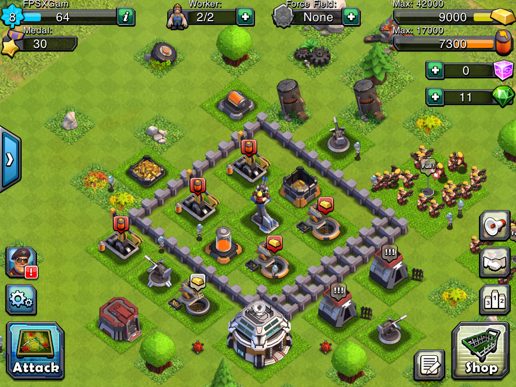 pocket fort hd ios game like clash of clans.png