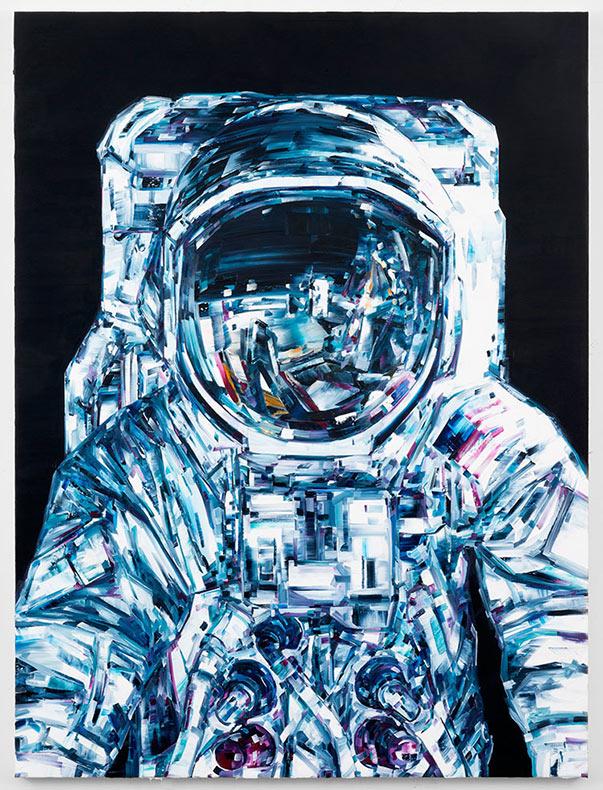 Impresionantes pinturas inspiradas en el espacio buscan el poder fatalista de las máquinas hechas por el hombre