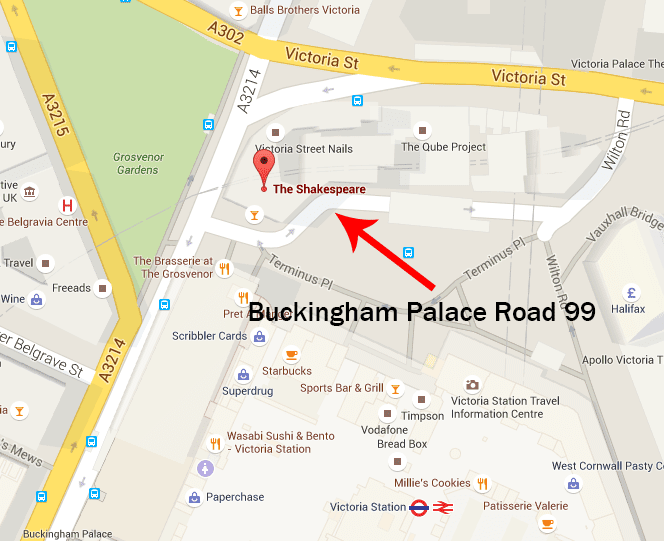 The Pub On Corner Called Shakespeare Is 99 Buckingham Palace Road Between 1928 And 1933 This Was Headquarters Of British Fascisti