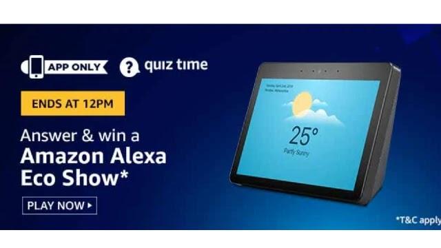 Amazon Alexa Eco Show Quiz Answers - Win Amazon Alexa Eco Show