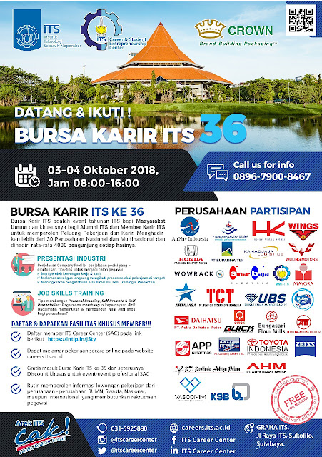 03-04 Oktober 2018: Bursa Karir ITS ke 36