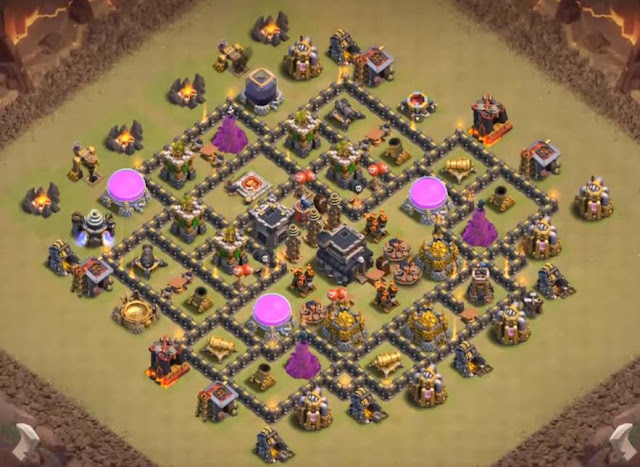 clash of clans town hall 8 base anti dragon