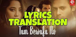 Tum Bewafa Ho Lyrics in English | With Translation | – Payal Dev x Stebin Ben