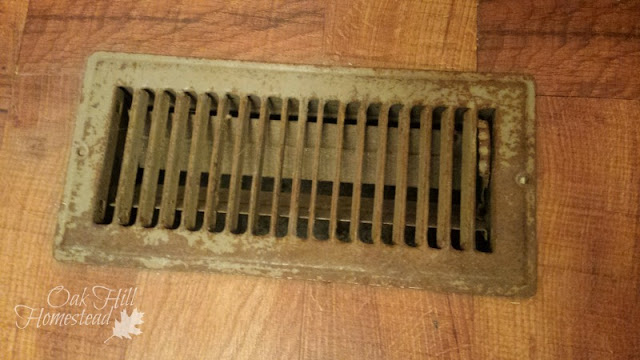 A heat register cover is a good way to cover a ventilation opening.