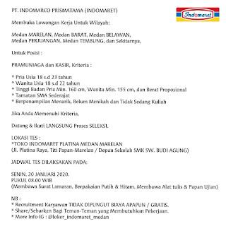 Lowongan Kerja SMA SMK Medan Januari 2020 di Indomaret