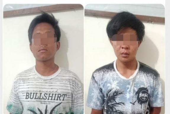 Dua penjambret HP ditangkap warga
