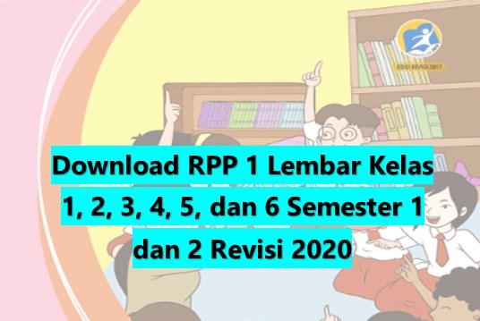 Download RPP 1 Lembar Tematik