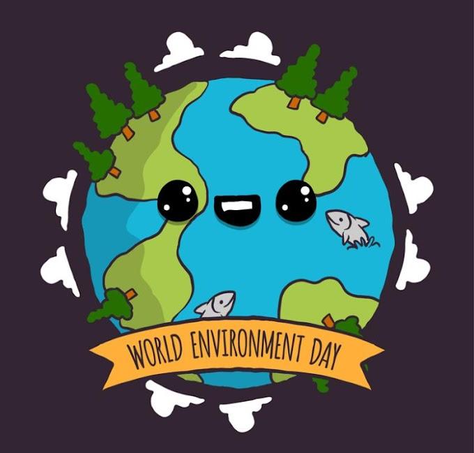 Cartoon Eyes Earth World Environment Day Poster Free Vector