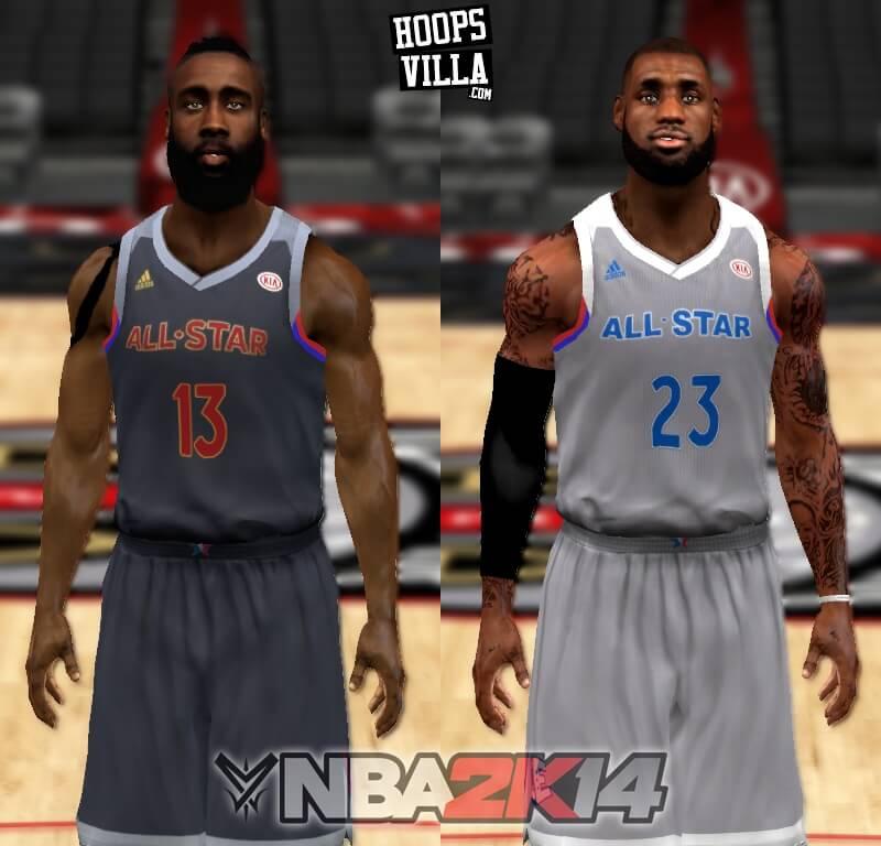 NBA 2k14 Roster update - January 21, 2017 - All Star 2017 Jerseys - HoopsVilla