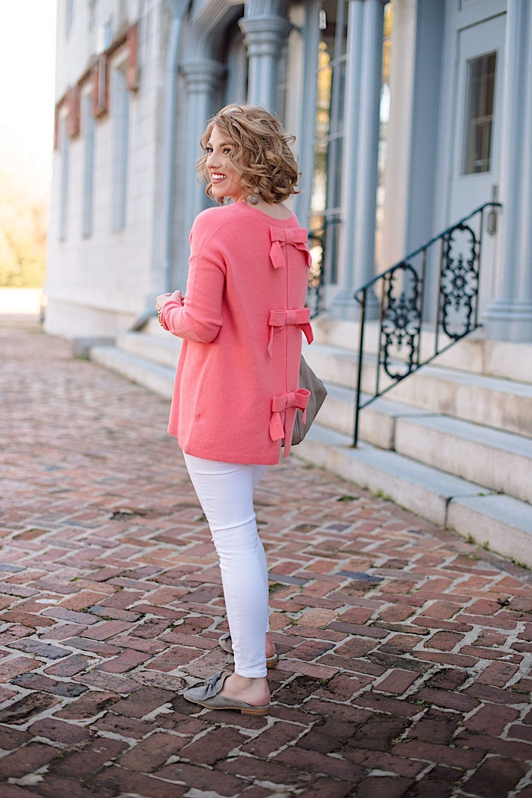 Under $80 Bow Back Sweater - Click through for more on Something Delightful Blog