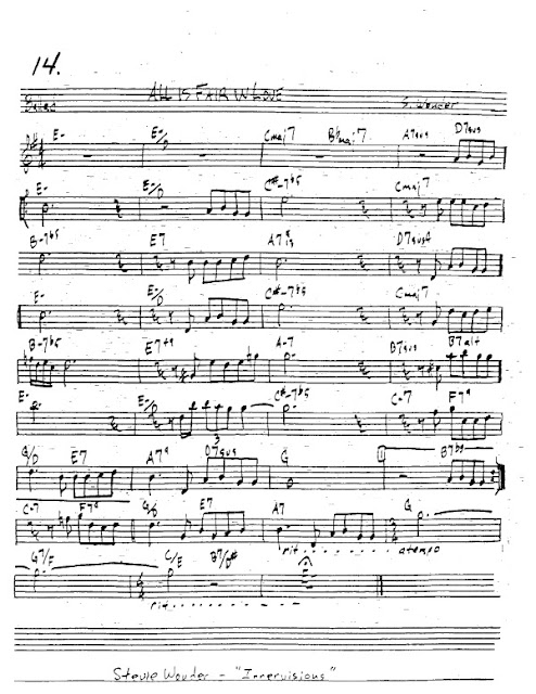 Partitura Trompeta Stevie Wonder