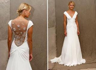 vestido de noiva simples com transparência e bordado