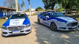 Carros de luxo são cedidos para uso da PM em Porto Seguro