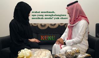 wahai muslimah, apa yang menghalangimu menikah muda? yuk share