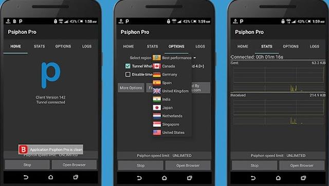 Screenshot Psiphon Pro