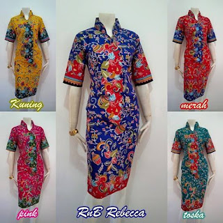 Model Batik Dress Rebecca