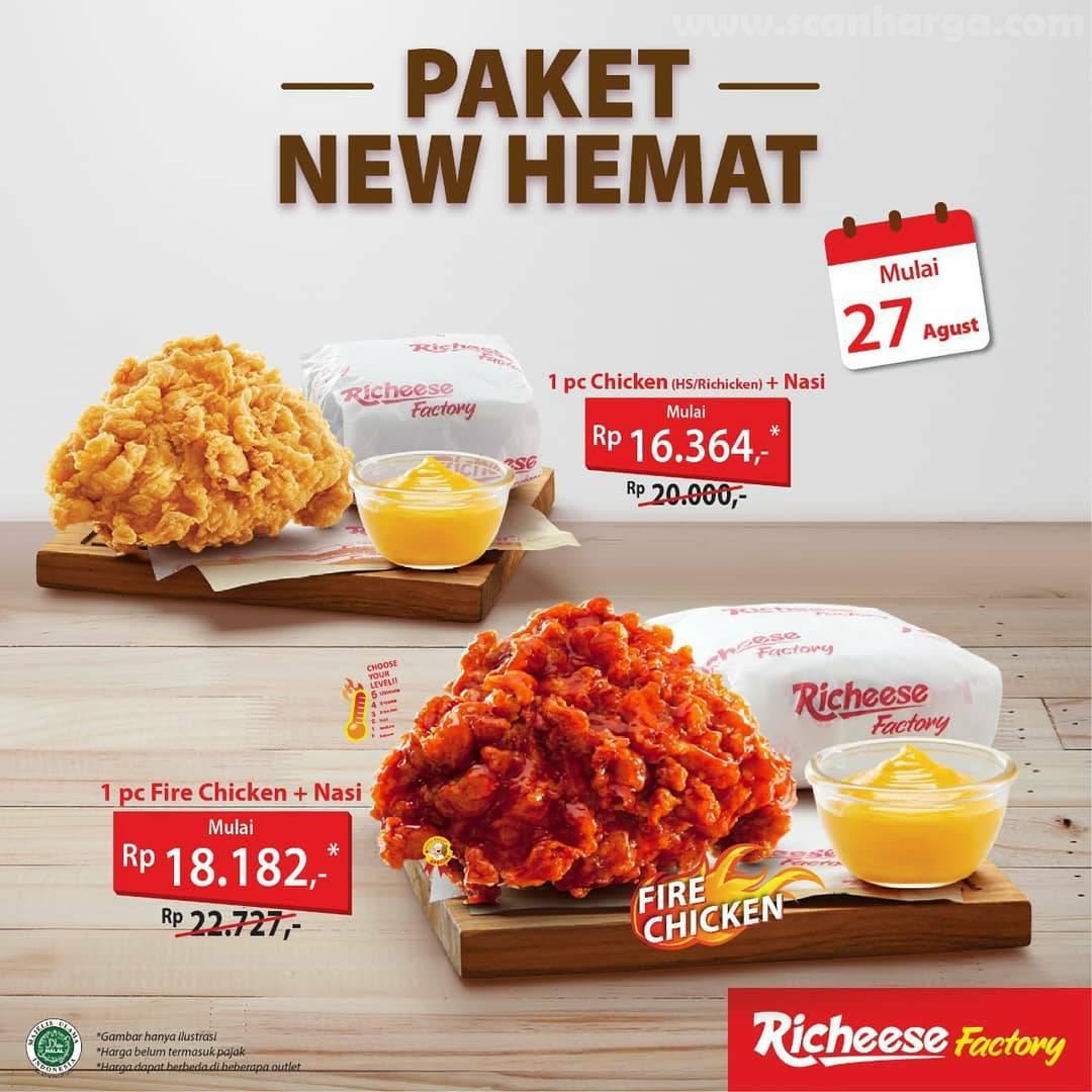 Promo Richeese Factory Paket New Hemat Periode 27 Agustus 2020