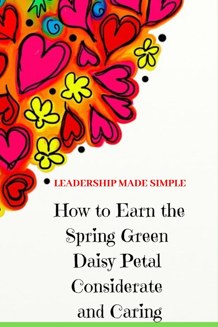 How to Earn the Spring Green Daisy Petal Considerate and Caring