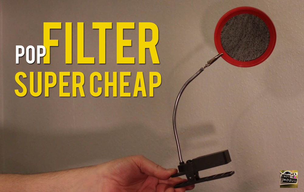 How to Make your Pop Filter for SUPER CHEAP
