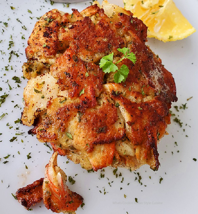 this is a copycat recipe for crabs cakes but made with more Italian and Cajun seasonings than the original recipe
