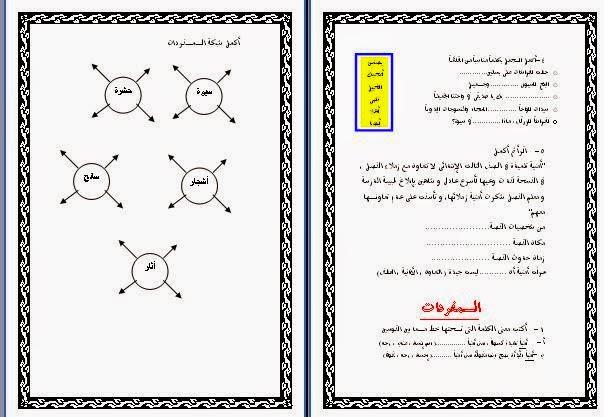 شرح لدرس أرض النخيل  ورد للصف الثالث عربى الترم الثانى2015 أشجار+النخ�