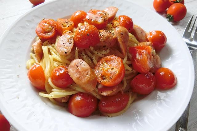 チェリートマトのペペロンチーノ