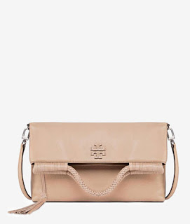 nude leather crossbody bag