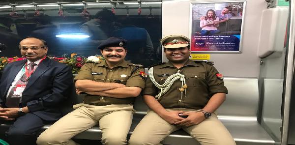 SSP-ne-lucknow-metro-ki-suraksha-vyavastha-ka-liya-jayaza