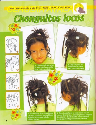 peinados, infantiles, revistas, tutoriales, cabello, pelo