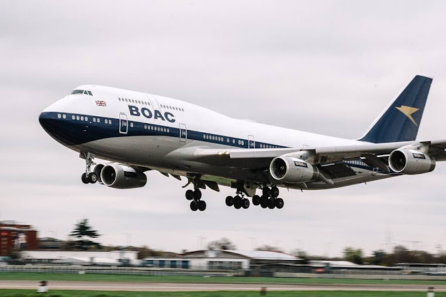 British Airways BOAC 747 Air Tattoo