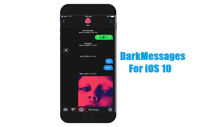 DarkMessages for iOS 10 will add you a dark mode on your message app which will definitely refresh your mind and message app too.
