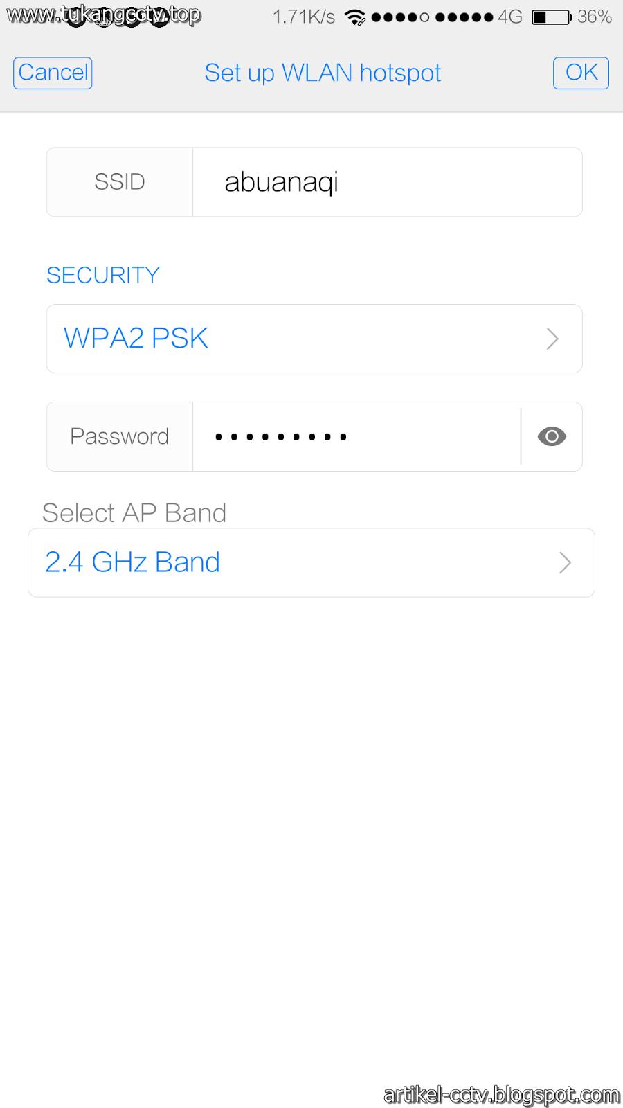 Cara Setting CCTV Online Via Hotspot Android ~ Tukang CCTV