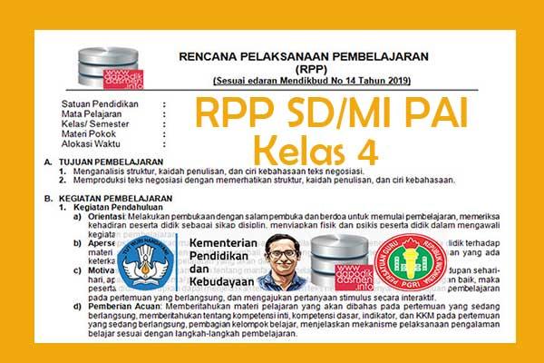 RPP 1 Lembar PAI SD/MI Kelas 4 Semester 2, Download RPP 1 Halaman PAI Kelas 4 Kurikulum 2013 SD/MI Semester 2 Revisi Terbaru, RPP Silabus PAI 1 Halaman Semester 2 Kelas 4