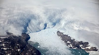 The Greenland ice sheet (Photo: Credit: AP) Click to Enlarge.