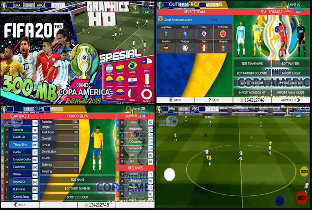 Anda jangan lupa untuk Unduh juga file  Download FTS 19 Mod Copa America Brazil Season 2019